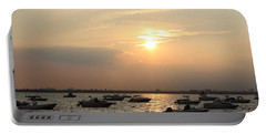Portable Battery Charger featuring the photograph The Sunset Of Late Summer by Dora Sofia Caputo Photographic Art and Design