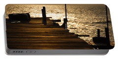 Sunset At The Pier Portable Battery Charger