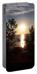 Sunset At The Point Portable Battery Charger