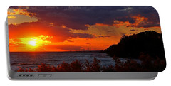 Sunset By The Beach Portable Battery Charger by Davandra Cribbie