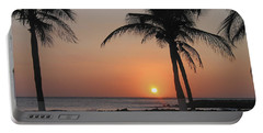 Portable Battery Charger featuring the photograph Sunset by David Gleeson