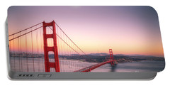 Sunset In San Francisco Portable Battery Charger by Jim And Emily Bush