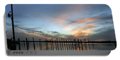 Portable Battery Charger featuring the photograph sunset marina Everglades by Dan Friend