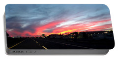 Sunset On Route 66 Portable Battery Charger