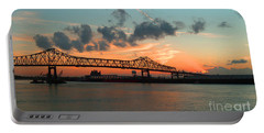 Sunset On The Mississippi  Portable Battery Charger