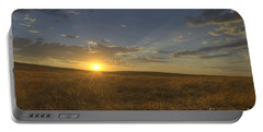 Sunset On The Prairie Portable Battery Charger by Jim And Emily Bush