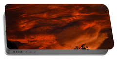Portable Battery Charger featuring the photograph Sunset Over Altoona by DigiArt Diaries by Vicky B Fuller