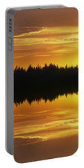 Sunset Over Boreal Forest, Medicine Portable Battery Charger