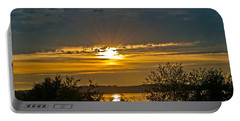 Portable Battery Charger featuring the photograph Sunset Over Steilacoom Bay by Tikvah's Hope