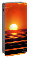 Sunset Over Tidal Flats Portable Battery Charger