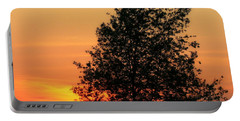 Sunset Square Portable Battery Charger by Angela Rath