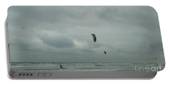 Portable Battery Charger featuring the photograph Surfing The Wind by Donna Brown
