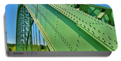 Portable Battery Charger featuring the photograph Suspension Bridge by Sherman Perry