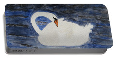 Portable Battery Charger featuring the painting Swan  by Sonali Gangane