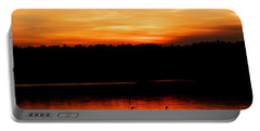 Swans In The Sunset Portable Battery Charger