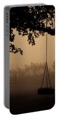 Portable Battery Charger featuring the photograph Swing In The Fog by Cheryl Baxter