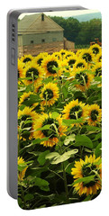 Tall Sunflowers Portable Battery Charger