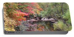 Tanasee Creek In The Fall Portable Battery Charger