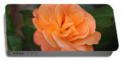 Portable Battery Charger featuring the photograph Tangerine Rose by Donna  Smith