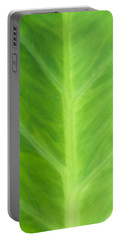 Taro Or Elephant Ear Leaf Portable Battery Charger by Denise Beverly