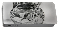 Teapot Reflections Portable Battery Charger by Jan Bennicoff
