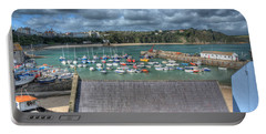 Portable Battery Charger featuring the photograph Tenby Harbour Pembrokeshire 1 by Steve Purnell