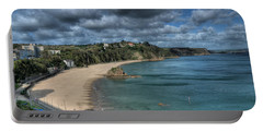 Portable Battery Charger featuring the photograph Tenby North Beach Pembrokeshire  by Steve Purnell