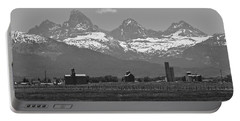 Portable Battery Charger featuring the photograph Tetonia Grain Elevators by Eric Tressler