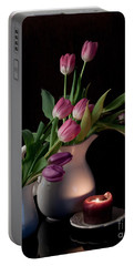 The Beauty Of Tulips Portable Battery Charger by Sherry Hallemeier