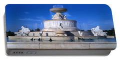 Portable Battery Charger featuring the photograph The Belle Isle Scott Fountain by Gordon Dean II
