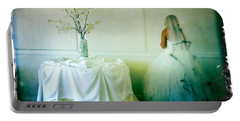 Portable Battery Charger featuring the photograph The Bride Takes A Moment by Nina Prommer