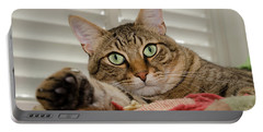 The Cat With Green Eyes Portable Battery Charger