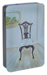 Portable Battery Charger featuring the painting The Chair by Judith Rhue