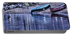 Portable Battery Charger featuring the photograph The Dramatic Canoe Scene by Janie Johnson