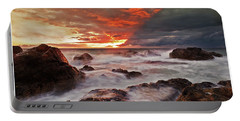 Portable Battery Charger featuring the photograph The Edge Of The Storm by Beverly Cash
