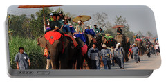 Portable Battery Charger featuring the photograph The Elephant Parade by Vivian Christopher