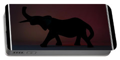 Portable Battery Charger featuring the digital art The Elephant... by Tim Fillingim