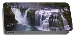 Portable Battery Charger featuring the photograph The Falls by David Gleeson