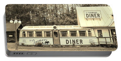 Portable Battery Charger featuring the photograph The Farmers Diner In Sepia by Sherman Perry