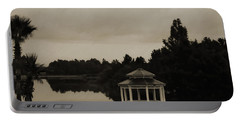 Portable Battery Charger featuring the photograph The Gazebo At The Lake by DigiArt Diaries by Vicky B Fuller