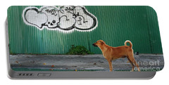 The Graffiti Artist Portable Battery Charger by Nola Lee Kelsey