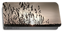 The Grass At Sunset Portable Battery Charger