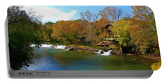 Portable Battery Charger featuring the photograph The Grist Big River by Peggy Franz