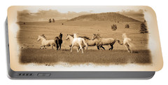 The Horse Herd Portable Battery Charger by Steve McKinzie