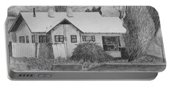 Portable Battery Charger featuring the drawing The House Across by Kume Bryant