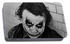 The Joker Portable Battery Charger by Carlos Velasquez Art