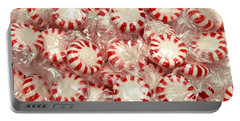 The Land Of Peppermint Candy Portable Battery Charger by Andee Design