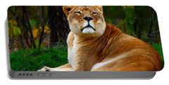 The Lioness Portable Battery Charger by Davandra Cribbie