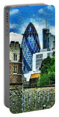 The London Gherkin  Portable Battery Charger