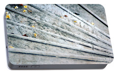 Portable Battery Charger featuring the photograph The Marble Steps Of Life by Vicki Ferrari